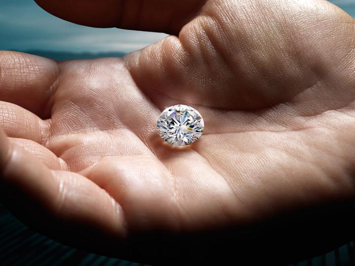 Unique custom diamond in hand